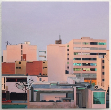 Our Neighborhood. oil on panel. 16 x 16. 2013_II_900