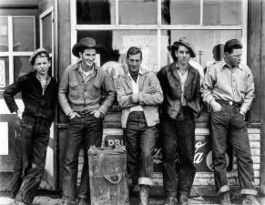 Drugstore-Cowboys_-Turner-Valley_-Canada_-1945-_-Courtesy-The-Gordon-Parks-Foundation